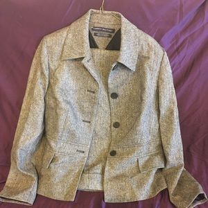 Tweed business suit