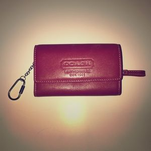 Coach Mini Wallet with Keychain Attachment