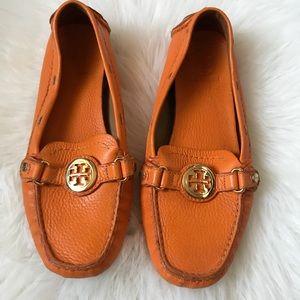 Tory Burch Orange Loafers