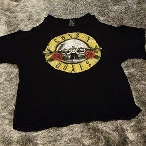 Guns n Roses cold shoulder shirt