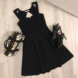 Black fit and flare Betsey Johnson dress size 2