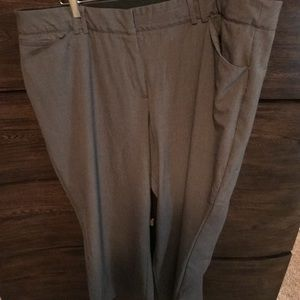 Lane Bryant gray boot cut work pant
