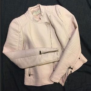 Zara Light Pink Faux Leather Jacket