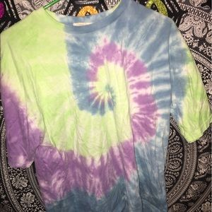 forever 21 small oversized tie dye shirt