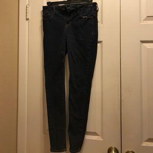 Dark Rinse Old Navy Rockstar Jeans 4P Mid Rise