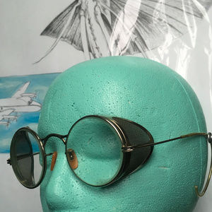 Vintage Industrial Safety Glasses Motorcycle Goggl
