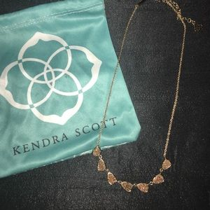 Kendra Scott Drusy Necklace in Rose Gold