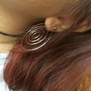 Jewelry - Silver Spiral Statement Earrings........