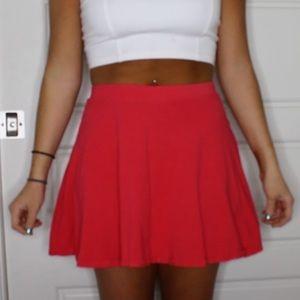 Red/orange skater skirt STRETCHY