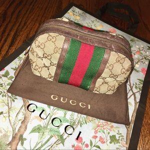 Gucci Original GG Canvas Web Cosmetic Bag