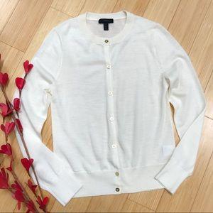 NWOT! J. CREW merino wool cream cardigan, S.