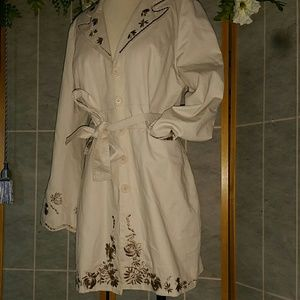 Arden B Embroidery coat