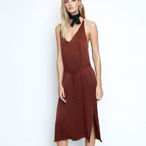 Faithfull the brand east west dress plain Amber