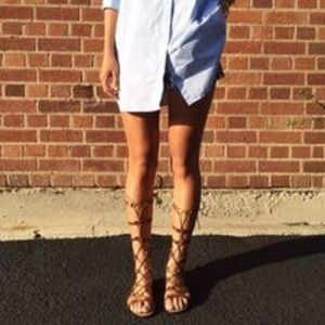 """Cynthia Vincent """"Frankly"""" Gladiator Sandals size 9"""