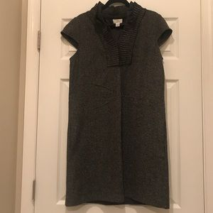 A-line tweed Loft dress with ruffles