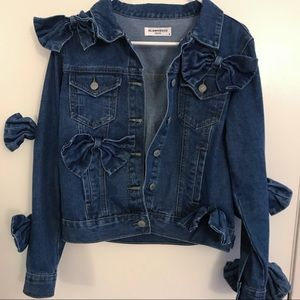 Jackets & Blazers - Denim Bow Jacket new without tags