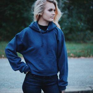 VINTAGE cutoff sweatshirt hoodie SZ small