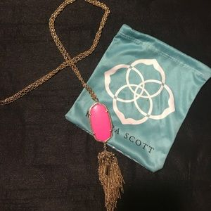 Kendra Scott Rayne Necklace in Neon Pink