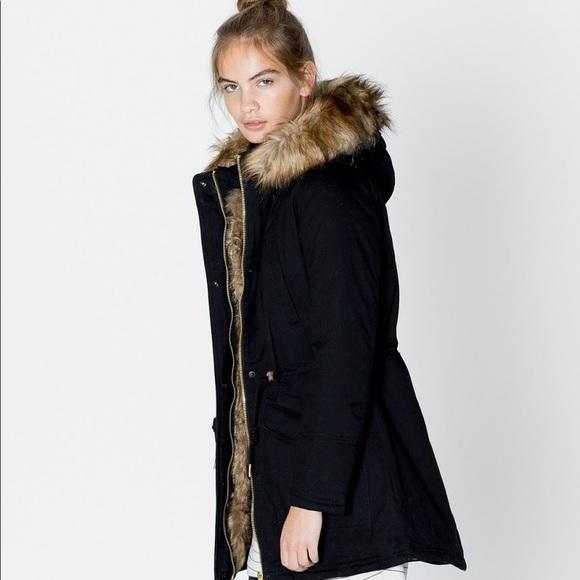 8b8cafab Zara Jackets & Coats | Fabulous Fur Lined Parka With Detachable Hood ...