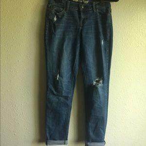 Old Navy The Boyfriend Distressed Blue Denim Jean