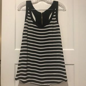 NWOT Express Striped Racerback Tank with Zipper