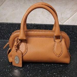FENDI BROWN LEATHER N49-22-16057 HAND BAG