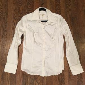 White Merona work shirt.