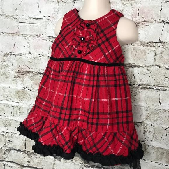 781e45fdf000 Koala Kids Dresses | Baby Girl Holiday Christmas Dress Red Black 24 ...