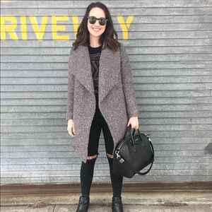 H&M gray doubled-breasted bouclé coat