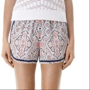 Club Monaco Silk Printed Shorts