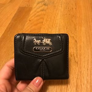 Black Authentic Small Coach Wallet