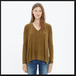 Madewell All Around Tee Olive Army Green Shirt S