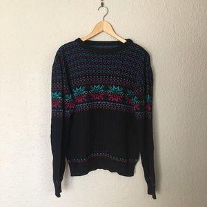 Black Winter Sweater Stranger Things Style