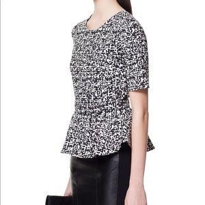 Zara Woman belted jacquard top