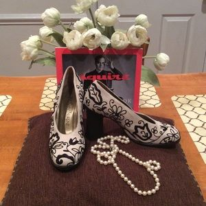 "HIGH SOCIETY, LIKE NEW, ""YVES SAINT LAURENT"" HEELS"