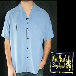 Nat Nash vintage blue button down dress shirt