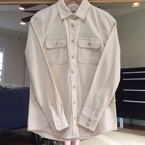 Off White Utility Button Down Shirt