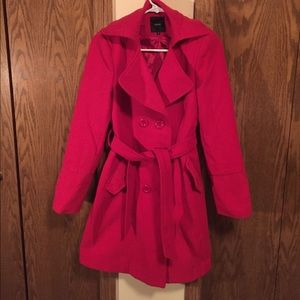 Red Trench Peacoat