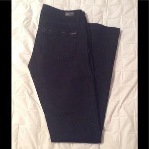 Paige Black Skinny Jeans w/ Zipper Detail, Size 27