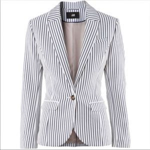 H&M Blue White Stripe Blazer