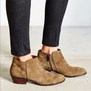 Sam Edelman ankle booties in moss/olive