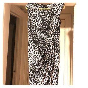 Size 6, Calvin Klein black and white dress