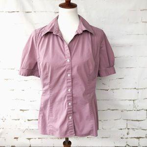 Ann Taylor LOFT Size 14 Lavender Button Up Shirt