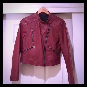 Forever 21 Faux Leather Motorcycle Jacket Size L