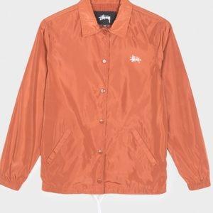 Stussy Newton Coach Jacket burnt orange