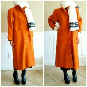 😍ON TREND!!! 📈 Vintage Orange Wool Duster Coat