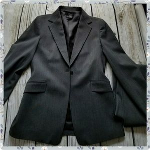 New Zara Women career suit size 8 dark gray blazer