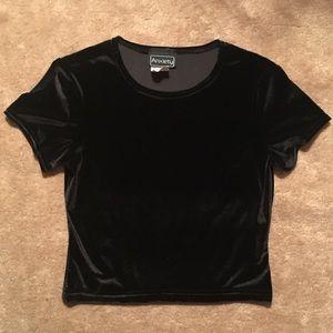 Vintage black velvet short sleeved top 🔮