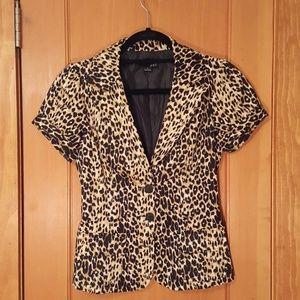 Forever21 leopard short sleeve blazer