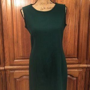 Vintage 60's Green Wool Blend Shift Dress